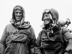 Left to Right: Edmund Hillary and Tenzing Norgay