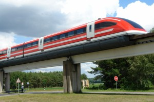 A Maglev Train in Germany