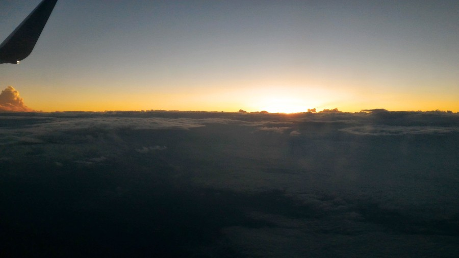 photograph from the window of a plane